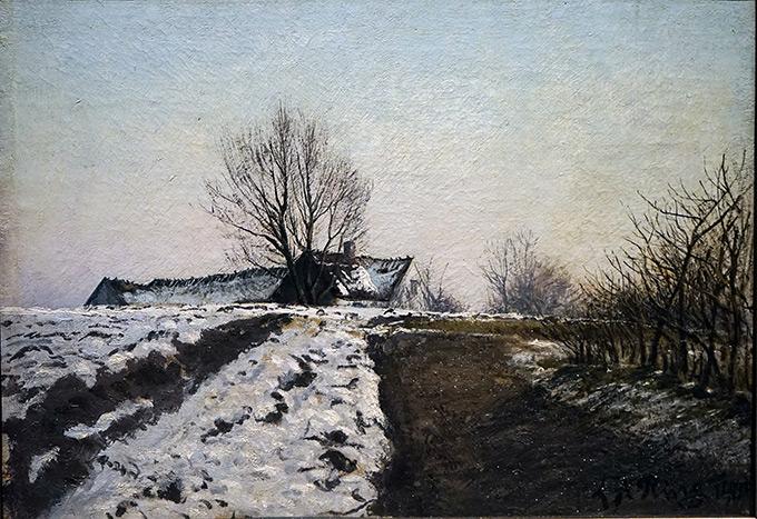 Lauritz Andersen Ring (1854-1933) Klar vinterdag sent på eftermiddagen, 1904